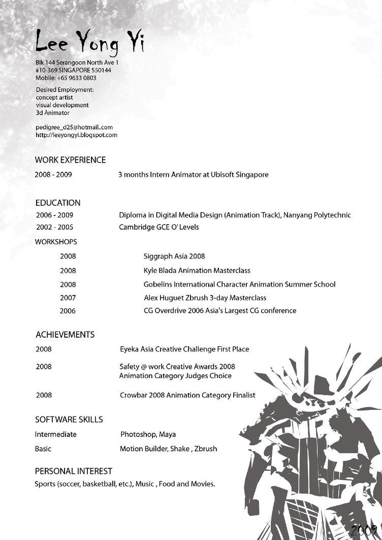 my Resume by yongs