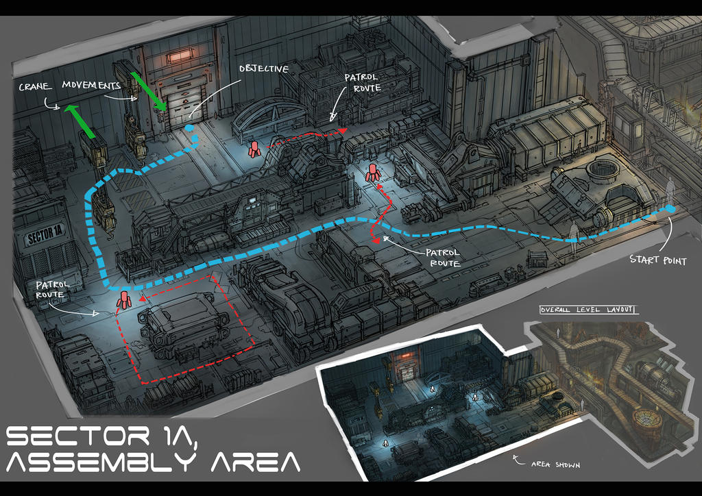 Level Design: Assembly Area by yongs on DeviantArt