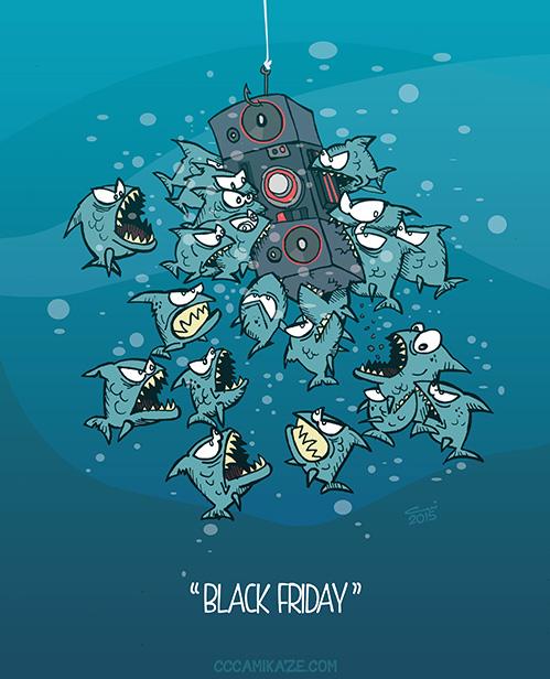 Black Friday Shoppinig frenzy by Camikaze