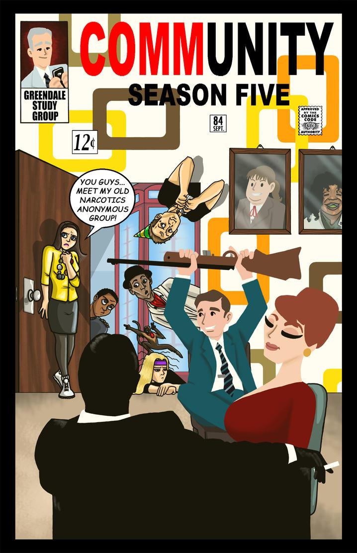 Mad Men/Community - Season five by BRENDANSULEIMAN