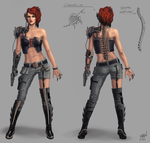 Cyborg girl concept