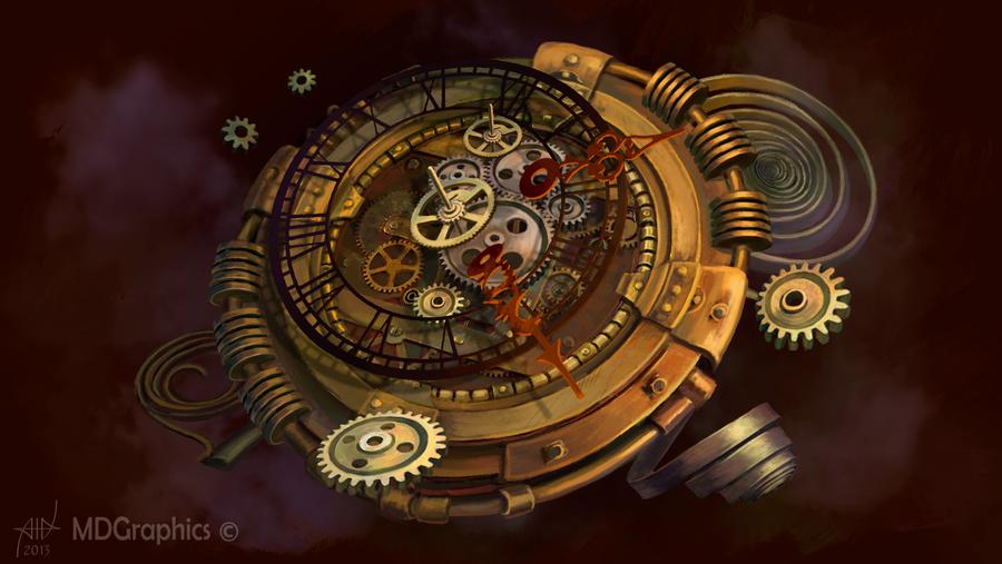 steampunk wallpaper clock - photo #24