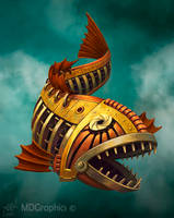 Steampunk fish by PVersus