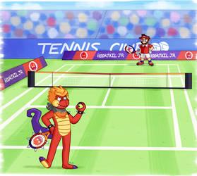 DragonTeens Mario Tennis Commission by KumariKat