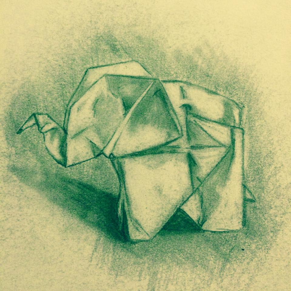 origami elephant by minddontlisteninme