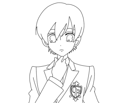 ouran highschool coloring pages - photo#34