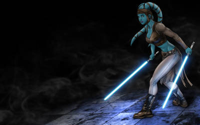 Aayla Secura - COLORED by LordDaroth