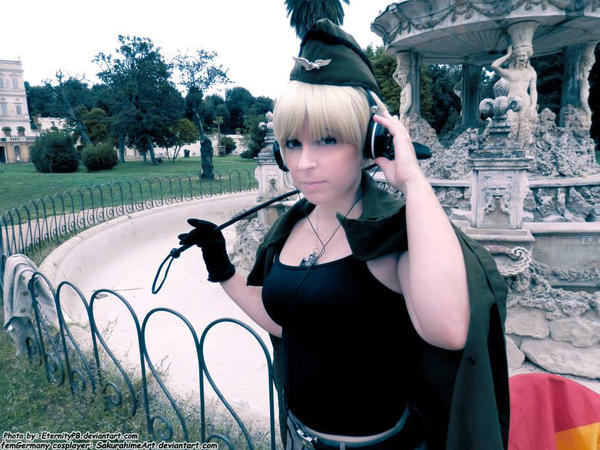 Hetalia day -  femGermany in Rome by SakurahimeArt