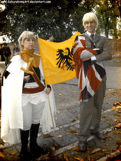Holy Roman Empire and England by SakurahimeArt