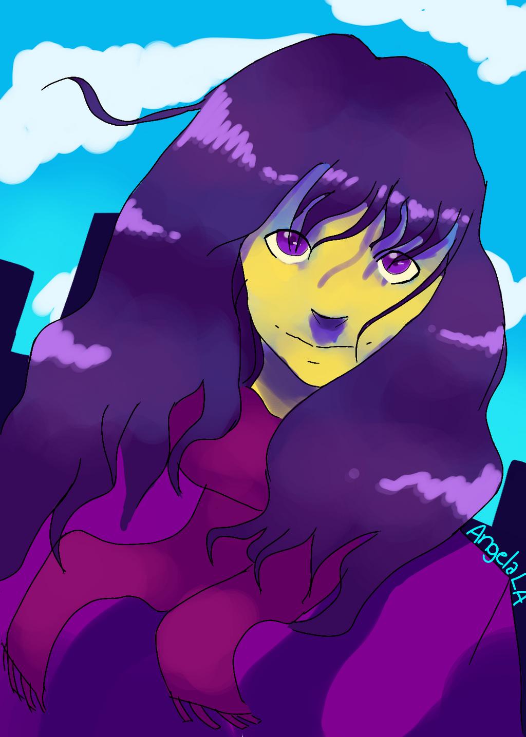 Purple Hair, Blue Sky by Muuluzi