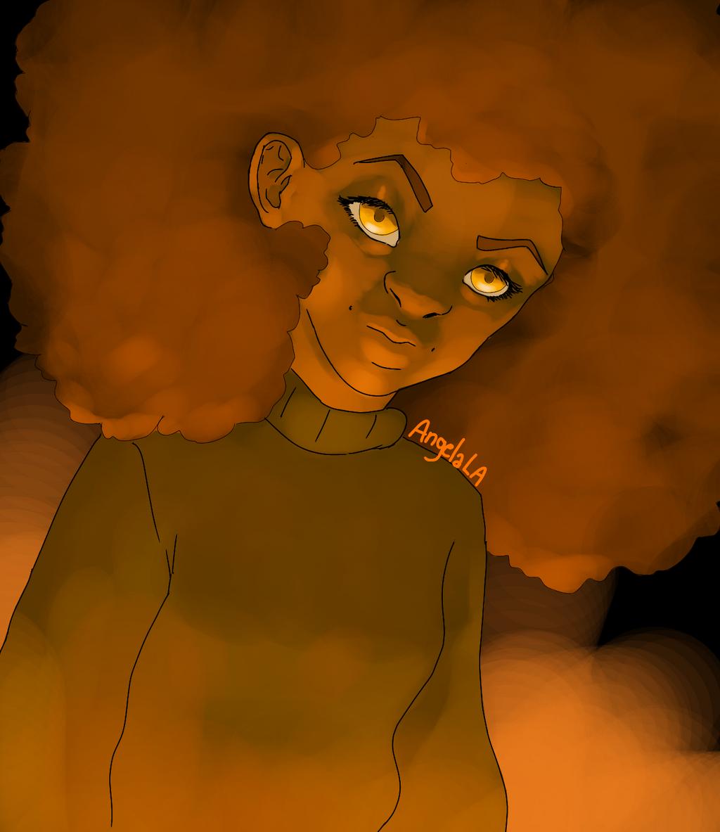 Orange Afro by Muuluzi