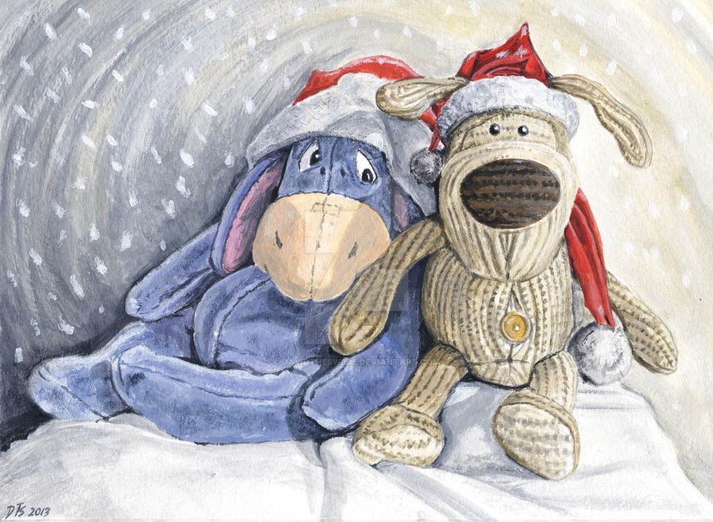 Christmas with Eeyore and Boofle by DavidTheSwede on DeviantArt