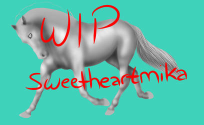 Preview - WIP Horse - SHOULD I SELL? by RogueDream