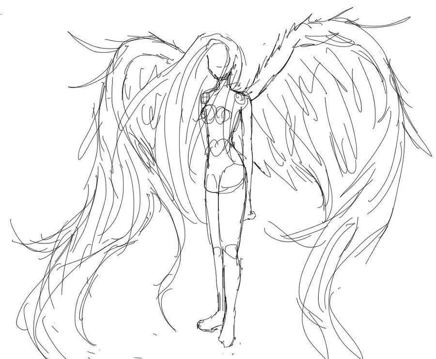 Wings Sketch by CannotTheGrammar on DeviantArt