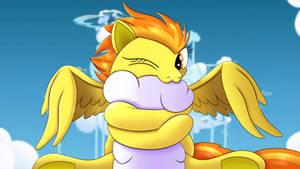 Spitfire hugging a cloud