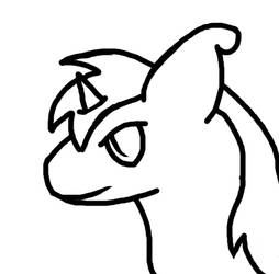 LD head drawing - black and white by moonofheaven1
