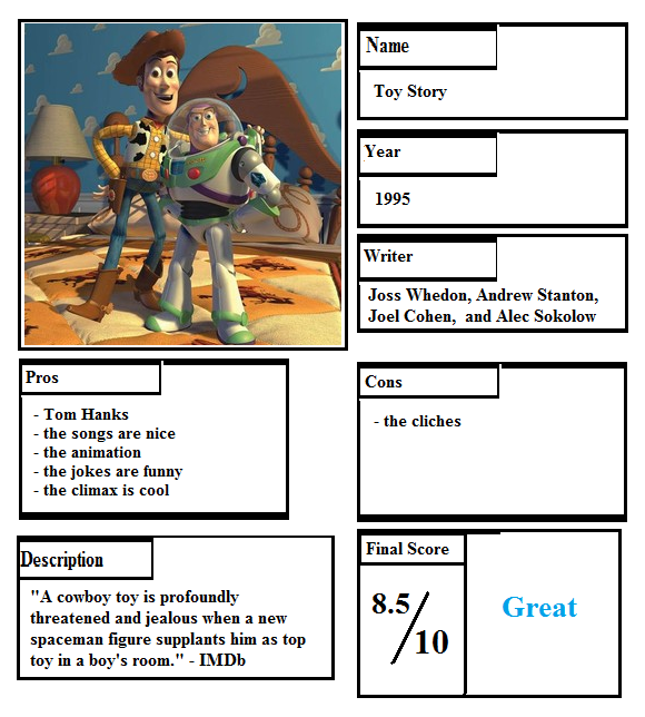 Story Foyer Pros And Cons : Pros and cons toy story by johntheguy on deviantart