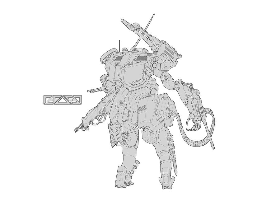 Assault Mech (line) by HYDROGEARS