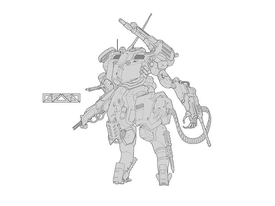 Assault Mech (line) by HYDROGEARS