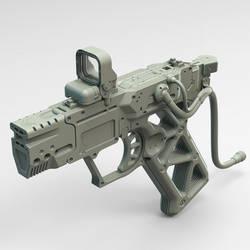 Railgun pistol WIP by HYDROGEARS