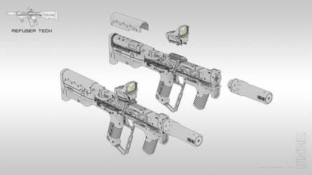 Energy Handgun (modified) by HYDROGEARS