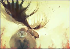 Elk, the forest spirit by GaudiBuendia