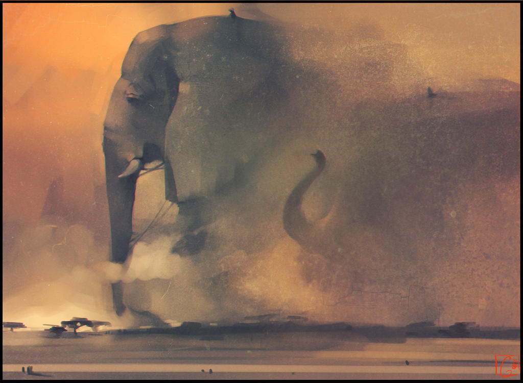 Elephant riders by GaudiBuendia