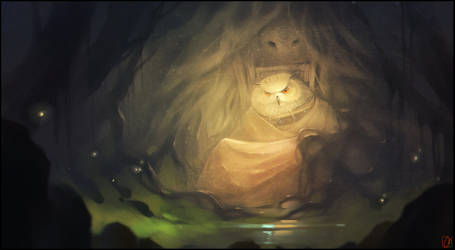 Forest god by GaudiBuendia