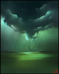 Sky snake by GaudiBuendia