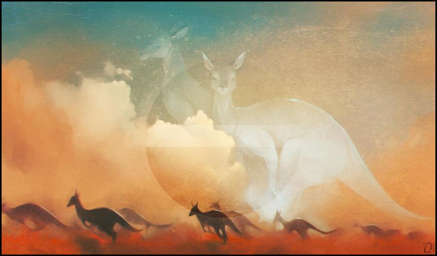 kangaroo by GaudiBuendia
