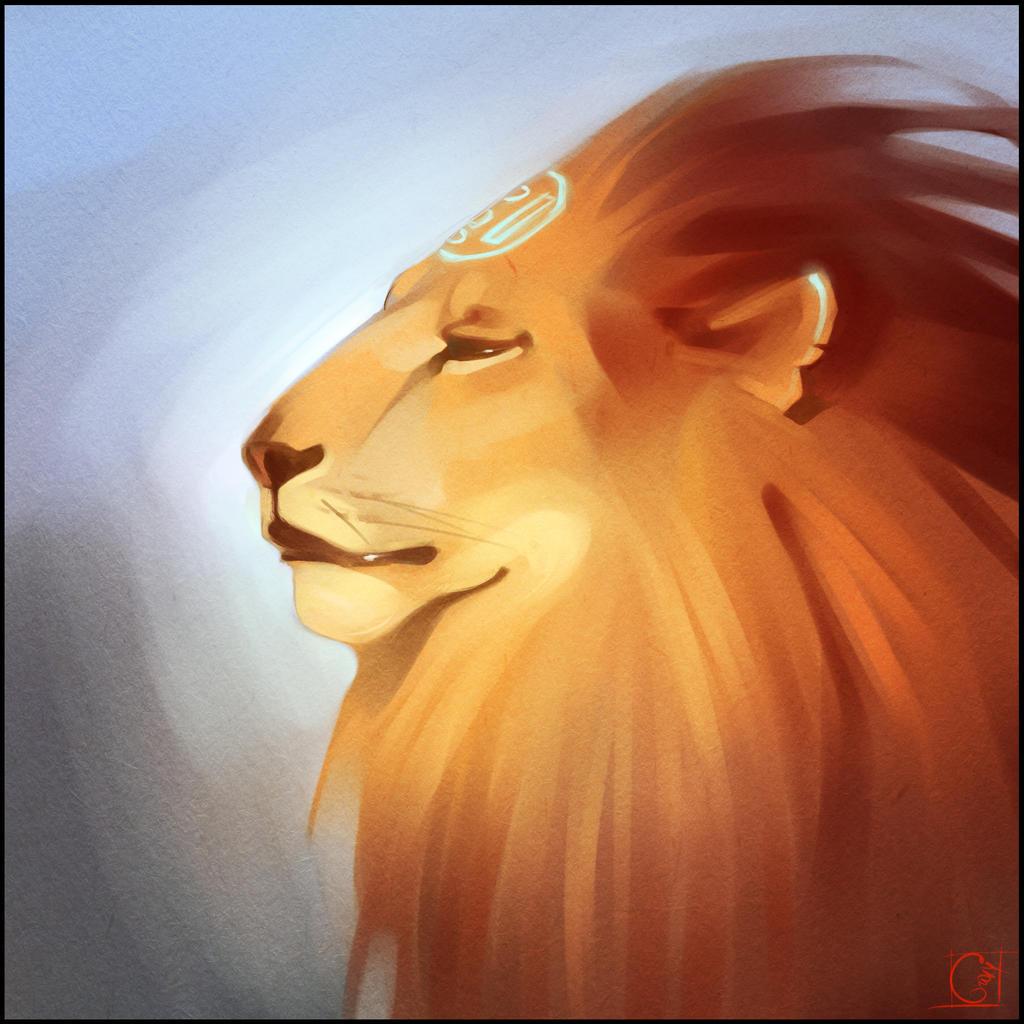 Lion sketch by GaudiBuendia