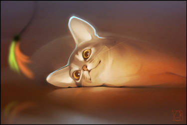 my cat Diana by GaudiBuendia