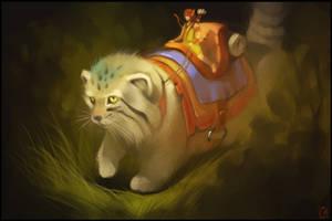 Manul cat by GaudiBuendia