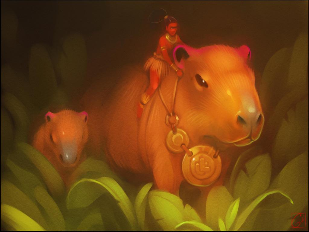 Capybara by GaudiBuendia