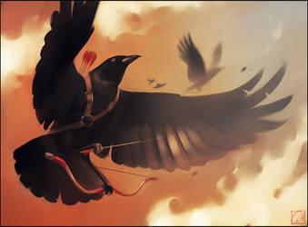 Crow archer by GaudiBuendia
