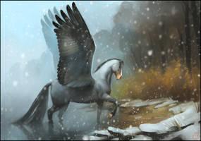 Winter Pegasus by GaudiBuendia