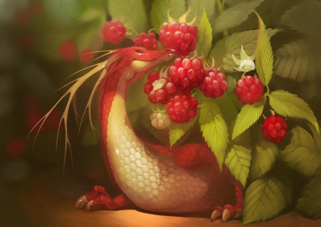 Raspberry dragon by GaudiBuendia
