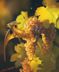 Grape dragon by GaudiBuendia