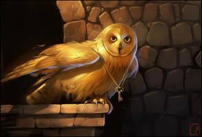 Golden owl by GaudiBuendia