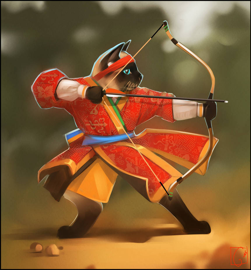 Korean traditional archer by GaudiBuendia
