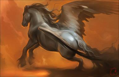 devil horse by GaudiBuendia