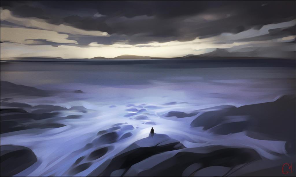 Rocky coast by GaudiBuendia
