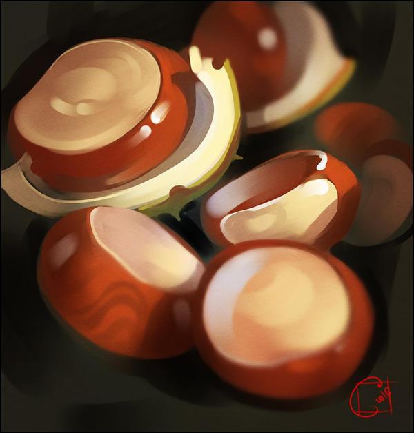 horse-chestnut by GaudiBuendia