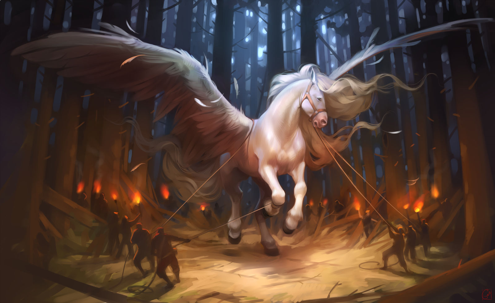 Pegasus of the chariot of the gods