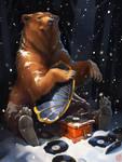 Mr. Bear, who loves jazz!