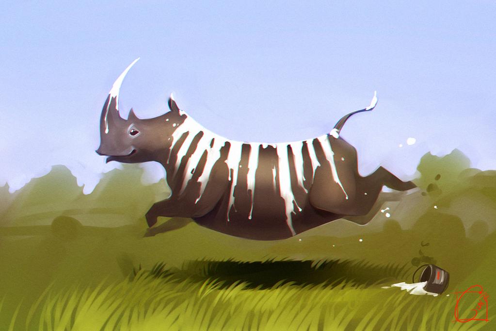 Rhino skin (feels like a zebra :D) by GaudiBuendia