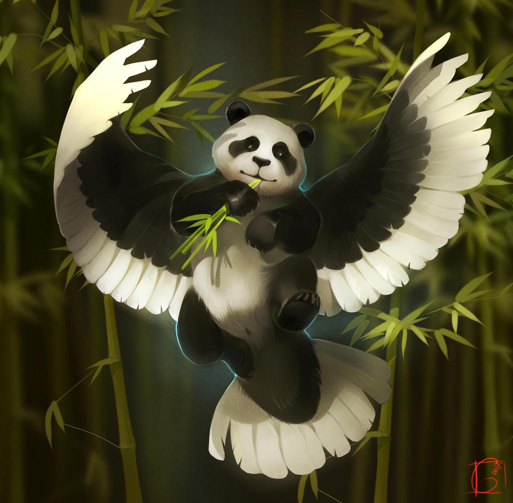 flying panda by GaudiBuendia