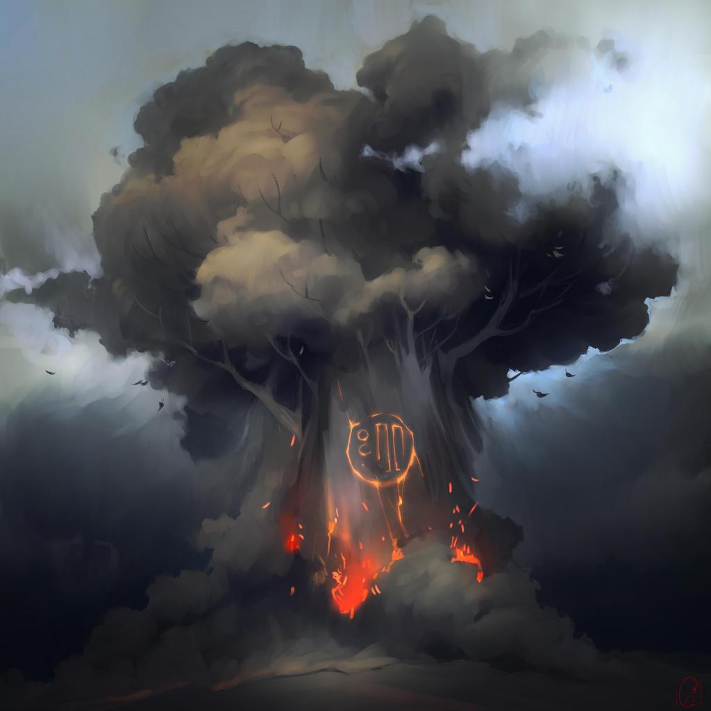 Volcano tree by GaudiBuendia