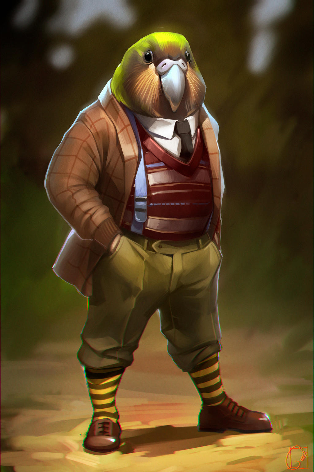 kakapo parrot by GaudiBuendia on DeviantArt