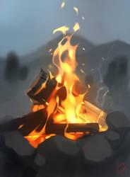 bonfire sketch by GaudiBuendia